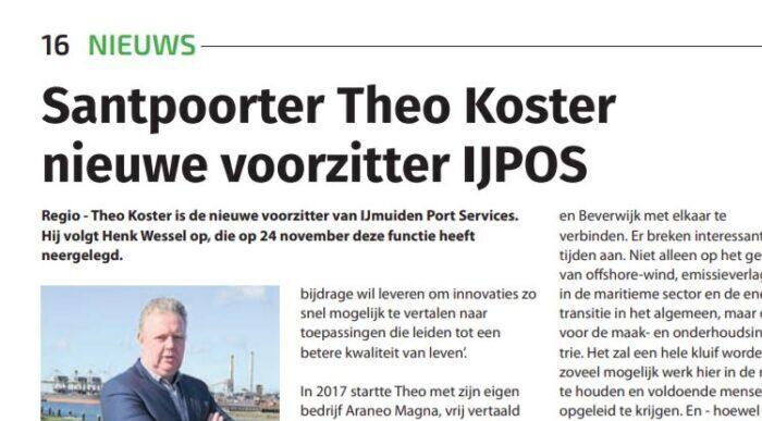 Theo Koster Voorzitter Van IJPOS (IJmuiden Port Service)